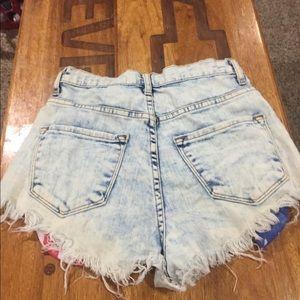 Vibrant Shorts - Patriotic Jean Shorts